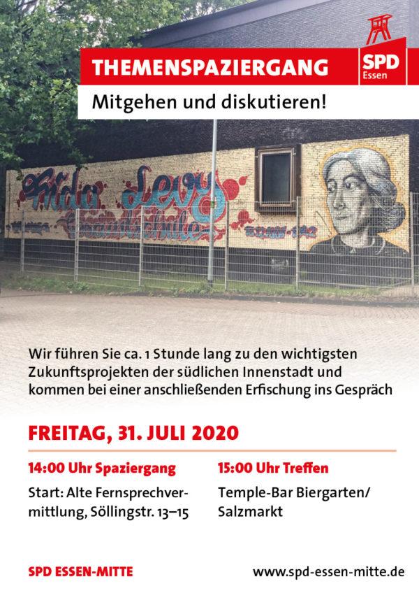 Flyer Themenspaziergang Innenstadt – 31.7.2020