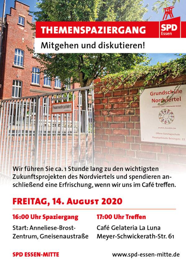 Titelseite Flyer Spaziergang Nordviertel 14.8.2020