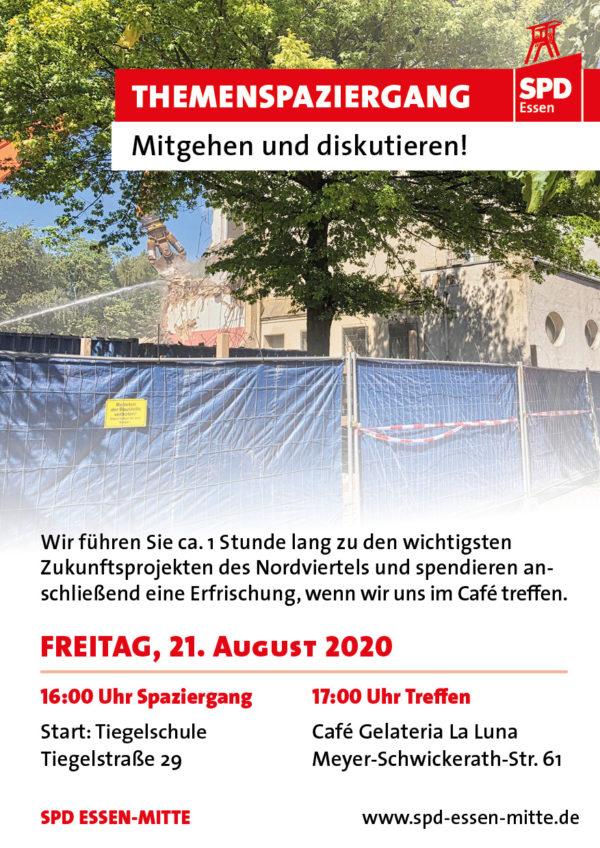 Titelseite Flyer Spaziergang Nordviertel 21.8.2020